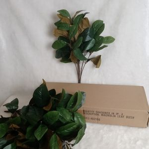 4 Branches Artificial Magnolia Leaf Bush Plant